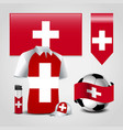 switzerland country flag place on t-shirt lighter vector image