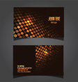 techno dots business card 0906 vector image vector image