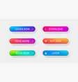 trendy buttons for web design vector image vector image