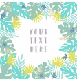 Tropical card template vector image vector image