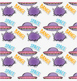 ufo patch with chat bubble and message background vector image