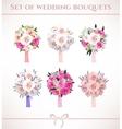 Wedding bouquets vector image vector image