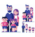 Family Flat Design vector image