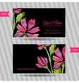 Elegant business card with bouquet of flowers vector image