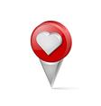 Heart pointer vector image
