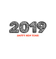 2019 lettering happy new year greeting or vector image vector image
