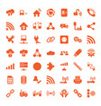 49 connection icons vector image vector image
