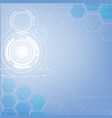 abstract blue technology triangles and hexagon vector image