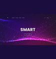 abstract landing page template with a glowing vector image vector image