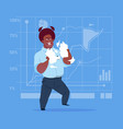african american business man tearing paper with vector image