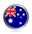 Australia flag button vector image vector image