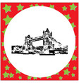 black 8-bit tower bridge isola vector image vector image