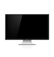 Black monitor with stand vector image vector image