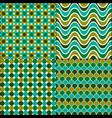 blue green retro mod seamless patterns vector image
