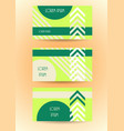 business banner website template stylized card vector image vector image