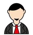 businessman elegant isolated icon vector image