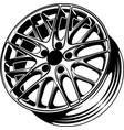 car wheel 9 vector image vector image