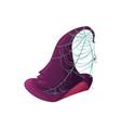 cartoon witch hat icon purple magician cap vector image vector image