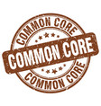 Common core brown grunge stamp vector image