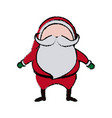 cute christmas santa claus happy celebration vector image vector image