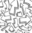 doodle arrows pattern seamless vector image vector image