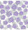 doodle fancy flowers vector image