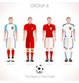 EURO 2016 GROUP B Championship vector image