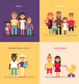 Family concept Family structure size members vector image vector image
