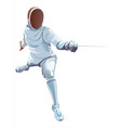 fencing player fencer swordsman athletes on a vector image vector image