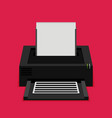 flat printer icon vector image vector image