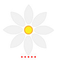 flower icon flat style vector image vector image