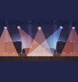 free stage with light effects disco dance studio vector image