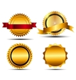 Gold Sign Label Template vector image vector image