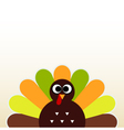 Happy Thanksgiving day card with cute Turkey vector image vector image