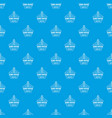 home heater pattern seamless blue vector image vector image