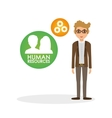 Human resources design Person icon Isolated vector image