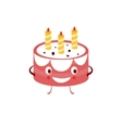 Humanized Cake Funny vector image