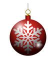 isolated christmas ball vector image vector image