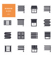isolated icons set window blinds vector image vector image