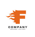 letter f and fire logo vector image