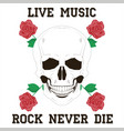 live music rock vector image