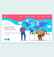 logistics worldwide delivery company website page vector image