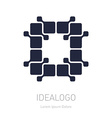 logo design element or icon Abstract technology vector image vector image