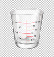 measuring cup with scales vector image