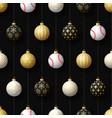 merry christmas baseball seamless pattern hang vector image vector image