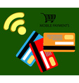 Mobile payments smartphone NFC vector image vector image