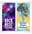 Music vertical banners vector image vector image