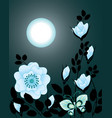 night flowers vector image