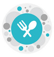 of complex symbol on spoon vector image