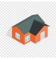 orange house isometric icon vector image vector image